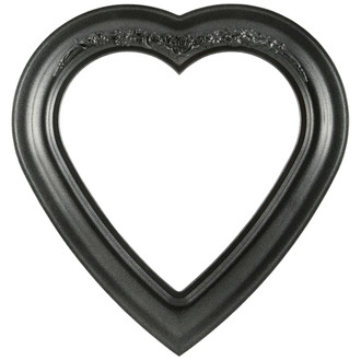 Winchester Heart Frame #451 - Black Silver