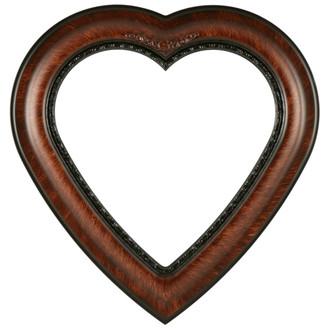 Boston Heart Frame #457 - Vintage Walnut