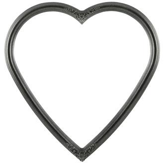 Contessa Heart Frame #554 - Black Silver