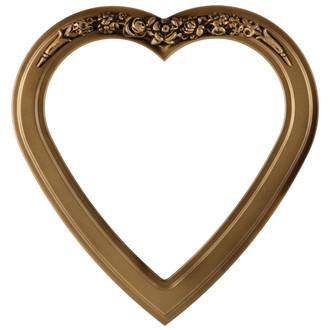 O Heart Frame - #821 Desert Gold