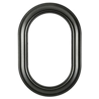 Heritage Oblong Frame #458 - Black Silver
