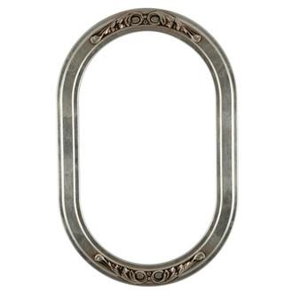 O Oblong Frame #821 - Silver Leaf Brown