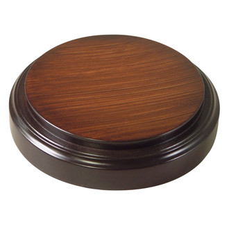 Vintage Walnut Base - Glass Dome Included
