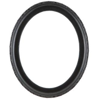 Kensington Oval Frame # 401 - Black Silver