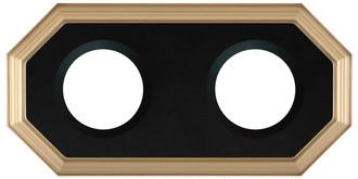 Double Plate Frame #352 - Desert Gold with Black Velvet
