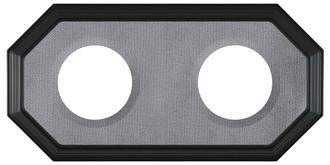 Double Plate Frame #352 - Matte Black with Grey Velvet