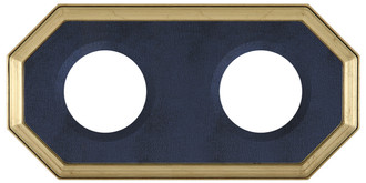 Double Plate Frame #352 - Gold Leaf with Blue Velvet