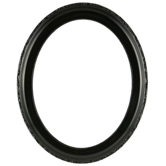 Kensington Oval Frame # 401 - Matte Black