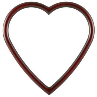 Pasadena Heart Frame - #250 - Rosewood