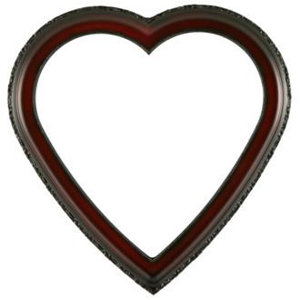 Kensington Heart Frame #401 - Rosewood