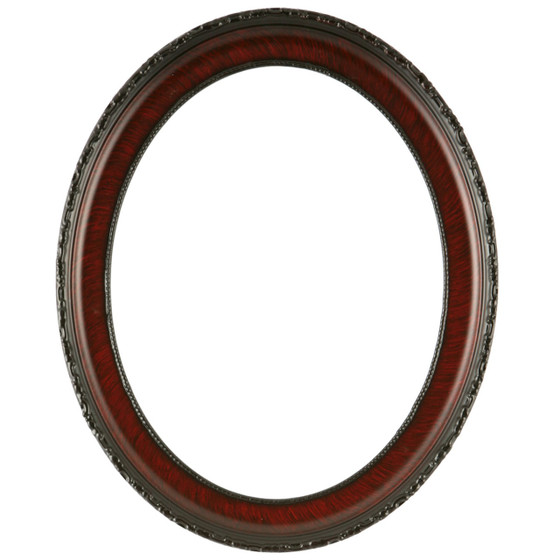 Oval Frame in Vintage Cherry Finish| Antique Stripping on Oval ...
