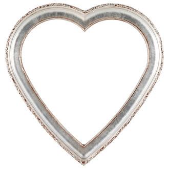 Kensington Heart Frame #401 - Silver Leaf with Brown Antique