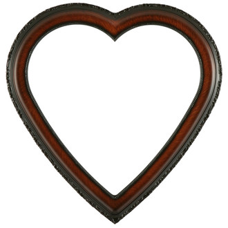 Kensington Heart Frame #401 - Vintage Walnut
