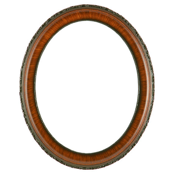 Oval Frame in Vintage Walnut Finish| Antique Stripping on Brown Oval ...