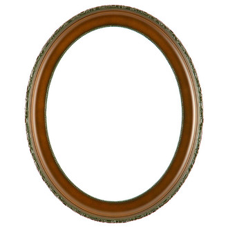 Kensington Oval Frame # 401 - Walnut