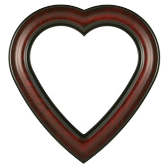 Lancaster Heart Frame - #450 - Vintage Cherry