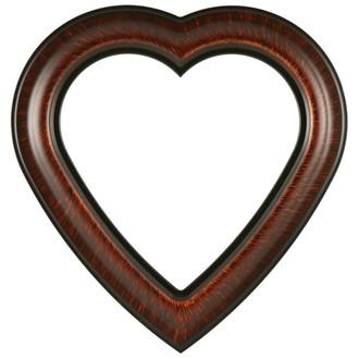 Lancaster Heart Frame - #450 - Vintage Walnut