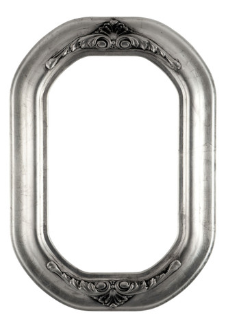 Winchester Octagon Frame #451 - Silver Leaf with Black Antique