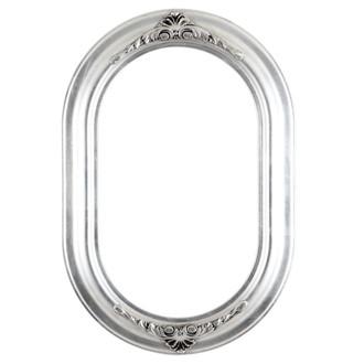 Winchester Oblong Frame #451 - Silver Leaf with Black Antique