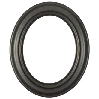 Lancaster Oval Frame # 450 - Black Silver