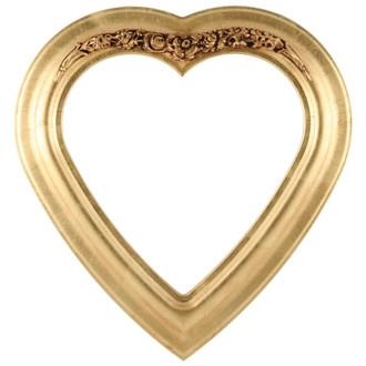 Winchester Heart Frame #451 - Gold Leaf
