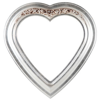 Winchester Heart Frame #451 - Silver Leaf with Brown Antique