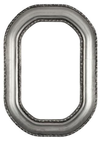 Somerset Octagon Frame #452 - Silver Leaf with Black Antique