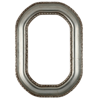 Somerset Octagon Frame #452 - Silver Leaf with Brown Antique