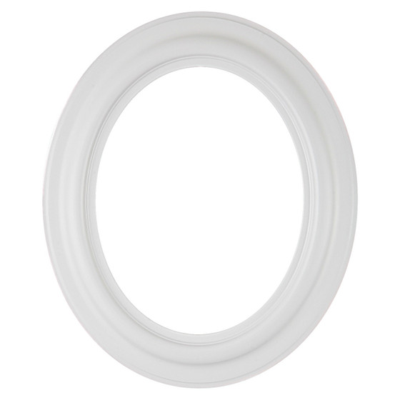 Oval Frame in Linen White Finish| Simple White Wooden Picture Frames