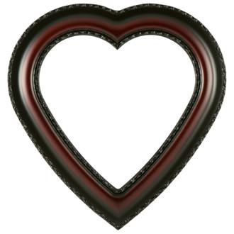 Somerset Heart Frame #452 - Rosewood