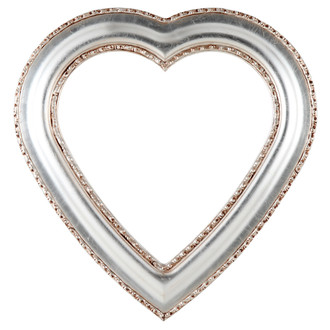 Somerset Heart Frame #452 - Silver Leaf with Brown Antique