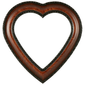 Somerset Heart Frame #452 - Vintage Walnut