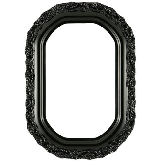 Venice Octagon Frame #454 - Gloss Black