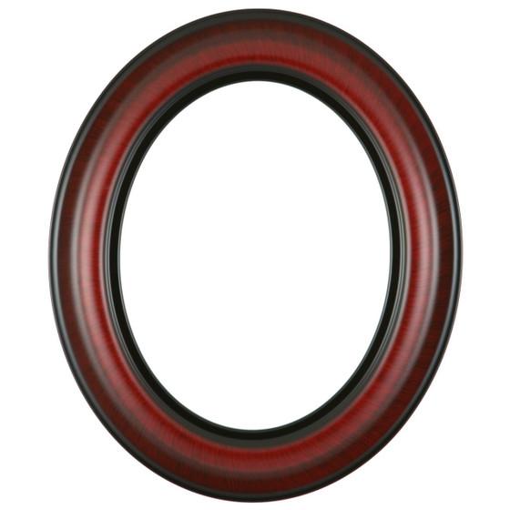 Lancaster Oval Frame # 450 - Vintage Cherry