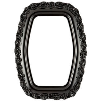 Venice Hexagon Frame #454 - Gloss Black