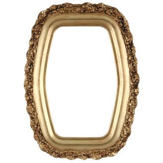 Venice Hexagon Frame #454 - Gold Leaf