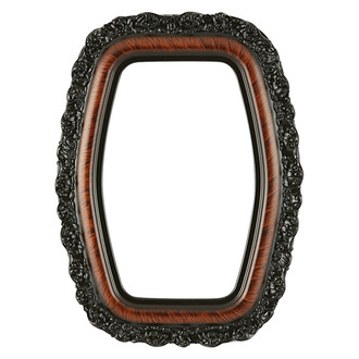 Venice Hexagon Frame #454 - Vintage Walnut