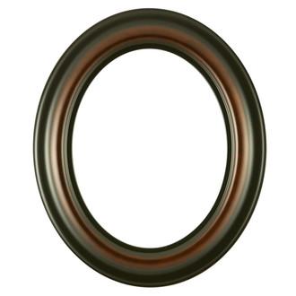 Lancaster Oval Frame # 450 - Walnut