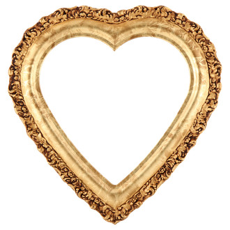 Venice Heart Frame #454 - Champagne Gold