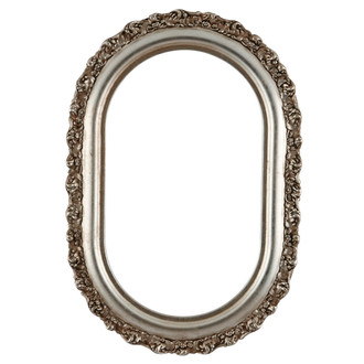 Venice Oblong Frame #454 - Silver Leaf with Brown Antique