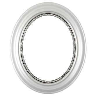 Chicago Oval Frame #456 - Silver Spray