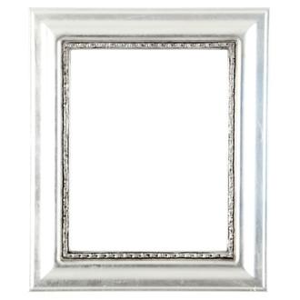 Chicago Rectangle Frame #456 - Silver Leaf with Black Antique