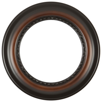 Chicago Round Frame #456 - Walnut