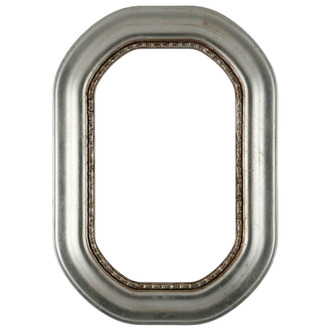 Chicago Octagon Frame #456 - Silver Leaf with Brown Antique