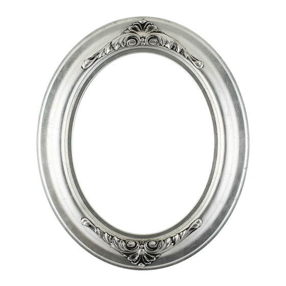 Oval Frame in Silver Leaf Finish with Black Antique| Silver Picture ...