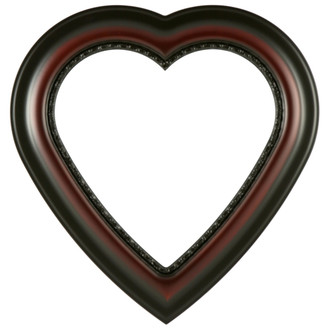 Chicago Heart Frame #456 - Rosewood