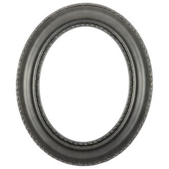Somerset Oval Frame # 452 - Black Silver