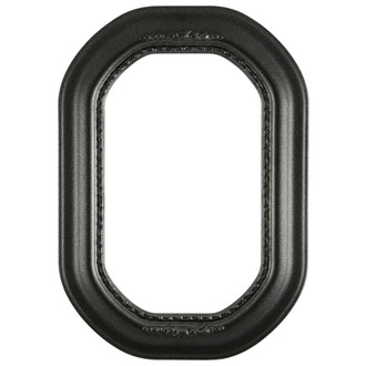 Boston Octagon Frame #457 - Black Silver