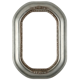 Boston Octagon Frame #457 - Silver Leaf with Brown Antique