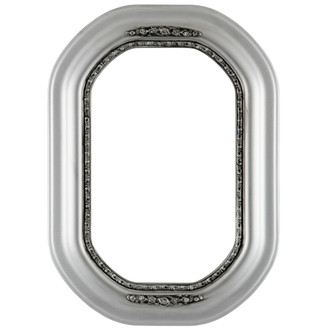 Boston Octagon Frame #457 - Silver Spray